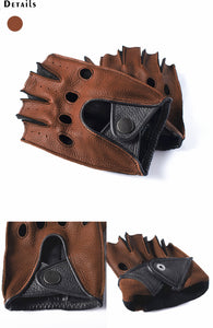 Bucks Deerskin Unlined Fingerless Leather Driving Gloves. - Royal  Holiday Shop