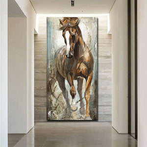 Modern Vertical Canvas Horse Painting Cuadros Paintings on the Wall Home Decor Canvas Posters Prints Pictures Art no frame - Royal  Holiday Shop