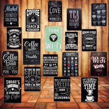 Load image into Gallery viewer, Decorative Sayings Metal Vintage Style Signs - Les Royal