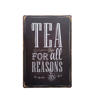 Decorative Sayings Metal Vintage Style Signs - Les Royal