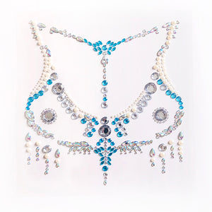 The Gem Face Temporary Body  Rhinestone Jewelry Collection - Les Royal