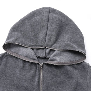 Irregular Plush Long Fleece Hooded Sweatshirt - Royal  Holiday Shop