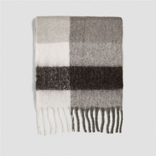 Load image into Gallery viewer, Patchwork Solid Warm Cozy Scarf Shawl Blanket Wrap - Royal  Holiday Shop