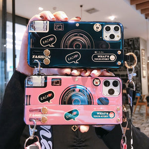 Camera Wristband Phone Case With Strap - Royal  Holiday Shop