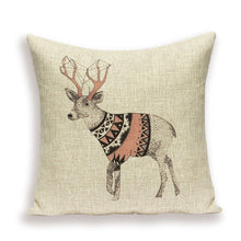 Load image into Gallery viewer, New  Nordic Elk Rustic Style Pillowcase Cushion Covers - Royal  Holiday Shop
