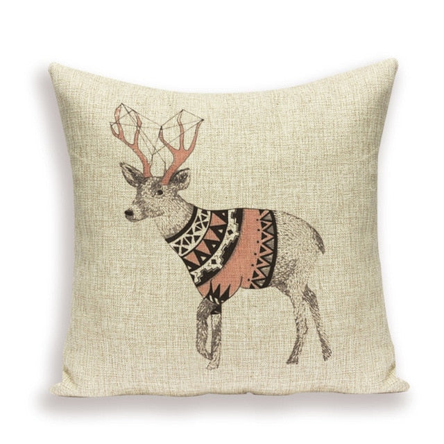 New  Nordic Elk Rustic Style Pillowcase Cushion Covers - Royal  Holiday Shop