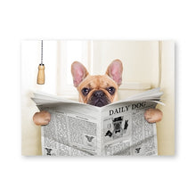 Load image into Gallery viewer, Daily Dog Reading Bathroom Wall Art - Royal  Holiday Shop
