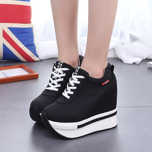 Boomer Extra High Retro Platform Wedge Sneakers - Royal  Holiday Shop