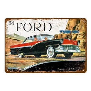 Classic Vintage Style Truck & Car Metal Signs - Royal  Holiday Shop
