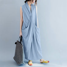 Load image into Gallery viewer, Casual Yolanda Collection Draped Cotton Dress - Royal  Holiday Shop