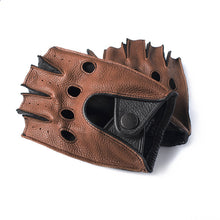 Load image into Gallery viewer, Bucks Deerskin Unlined Fingerless Leather Driving Gloves. - Royal  Holiday Shop