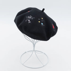 Love Flight Wool Embroidered Retro French Beret - Les Royal