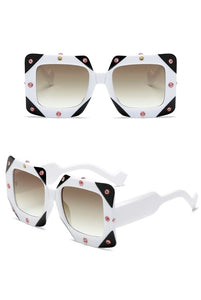Diamond Square Oversized Sunglasses - Royal  Holiday Shop