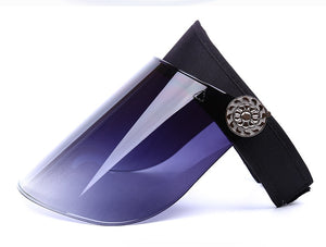 Wide Brim UV Blocking Sun Visor Mask - Royal  Holiday Shop