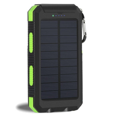 Waterproof Solar Power Bank 20000 mAH Dual External USB w/ Flashlight Battery Charger - Royal  Holiday Shop