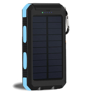 Waterproof Solar Power Bank 20000 mAH Dual External USB w/ Flashlight Charger - Les Royal