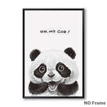 Load image into Gallery viewer, Cute Shocked Funny Expression Fuzzy Crew Canvas Prints - Royal  Holiday Shop