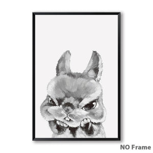Cute Shocked Funny Expression Fuzzy Crew Canvas Prints - Royal  Holiday Shop
