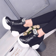 Load image into Gallery viewer, Color Block Black & White Platform Sneakers - Royal  Holiday Shop