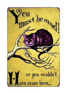 Best Metal  Funny Vintage Retro Cat Sayings Wall Signs - Royal  Holiday Shop