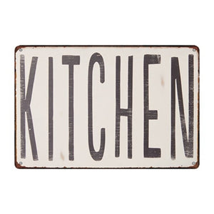 Top Vintage Retro Style Metal Wall & Door Signs - Les Royal