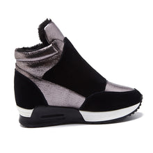 Load image into Gallery viewer, Plush Wedge High Top Sneakers - Royal  Holiday Shop