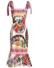 Load image into Gallery viewer, Festive Collection Vintage Style Mixed Print Sheath Dress - Les Royal