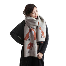 Load image into Gallery viewer, The Foxy Warm Printed Wrap Scarf - Les Royal