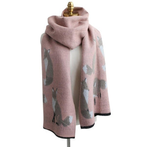 The Foxy Warm Printed Wrap Scarf - Les Royal