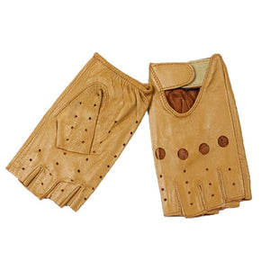 Bow Fingerless Leather Sheepskin Driving Gloves - Royal  Holiday Shop