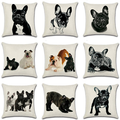 French Bulldog Decorative Pillow Case Cover 45*45 10211 - Les Royal