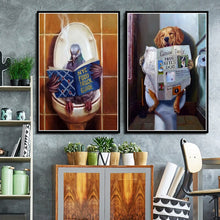 Load image into Gallery viewer, Landscape Funny  Dog & Bird Animal  Wall Decor - Royal  Holiday Shop