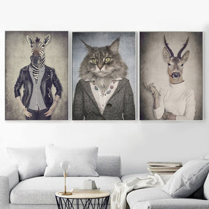 Nordic Cat Deer & Antelope Wall Decor - Les Royal