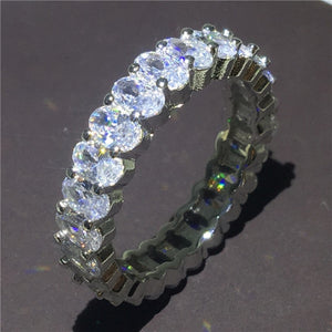 Stackable Sliver Handmade Eternity Promise Rings - Royal  Holiday Shop