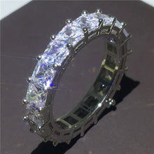 Load image into Gallery viewer, Stackable Sliver Handmade Eternity Promise Rings - Royal  Holiday Shop