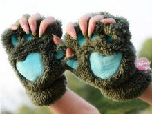 Load image into Gallery viewer, Fuzzy Fingerless Plush Paw Gloves - Royal  Holiday Shop