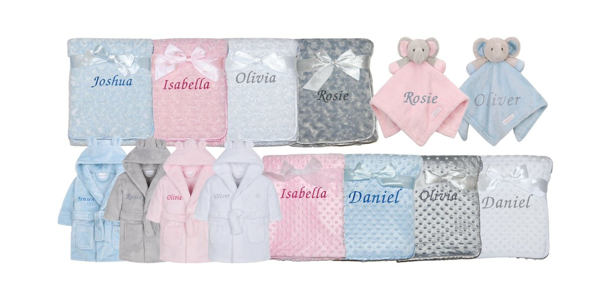 Personalised baby gifts of all kinds are available