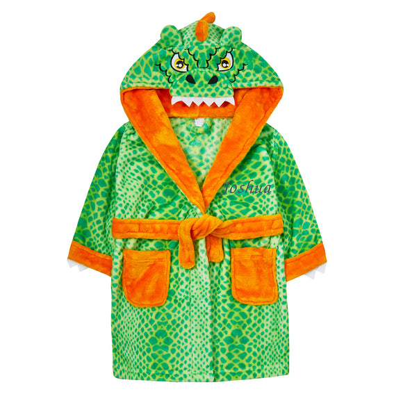 Personalised Dinosaur Robe