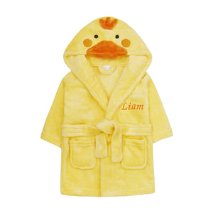 Personalised Baby Duck Dressing Gown