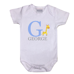Personalised 'ABC Baby Vest (G-M)