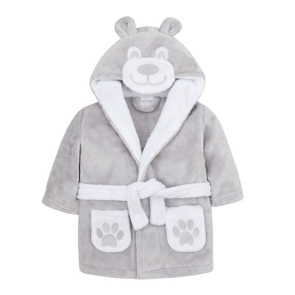Personalised Grey Bear Face Robe
