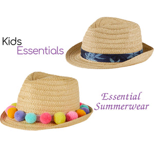 Children's Summer Trilby Hats, 2 Different Designs