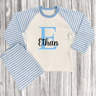 Personalised pyjamas are ideal for baby boys