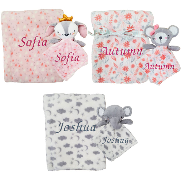 Three Different Personalised Blanket and Comforter Sets