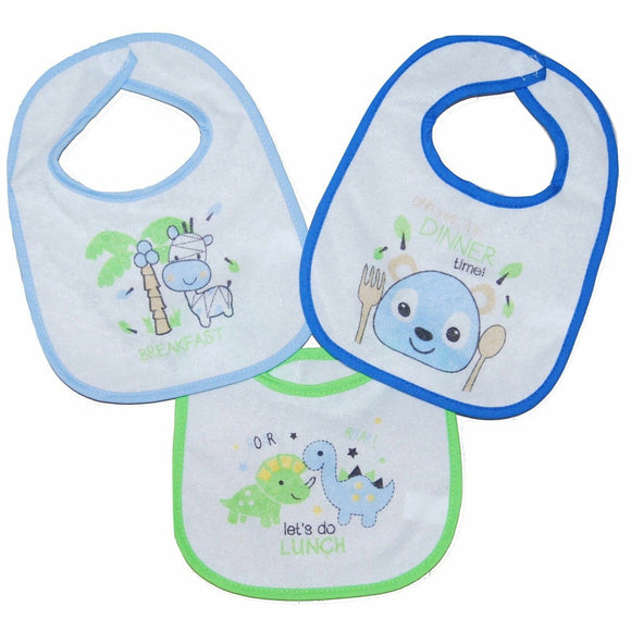 Set of 3 Baby Bibs featuring animal themes