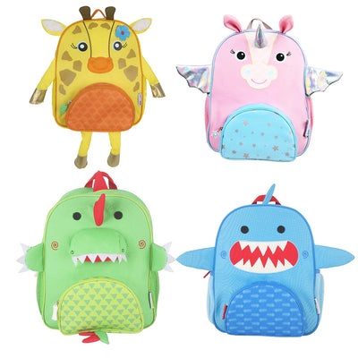 4 Children's Colourful Animal Backpacks