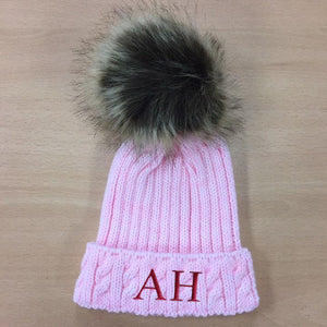 Pink Personalised Woolly Hat