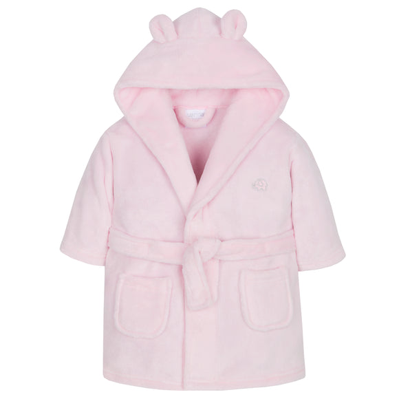 Personalised Pink Baby Dressing Gown with Bear Ears
