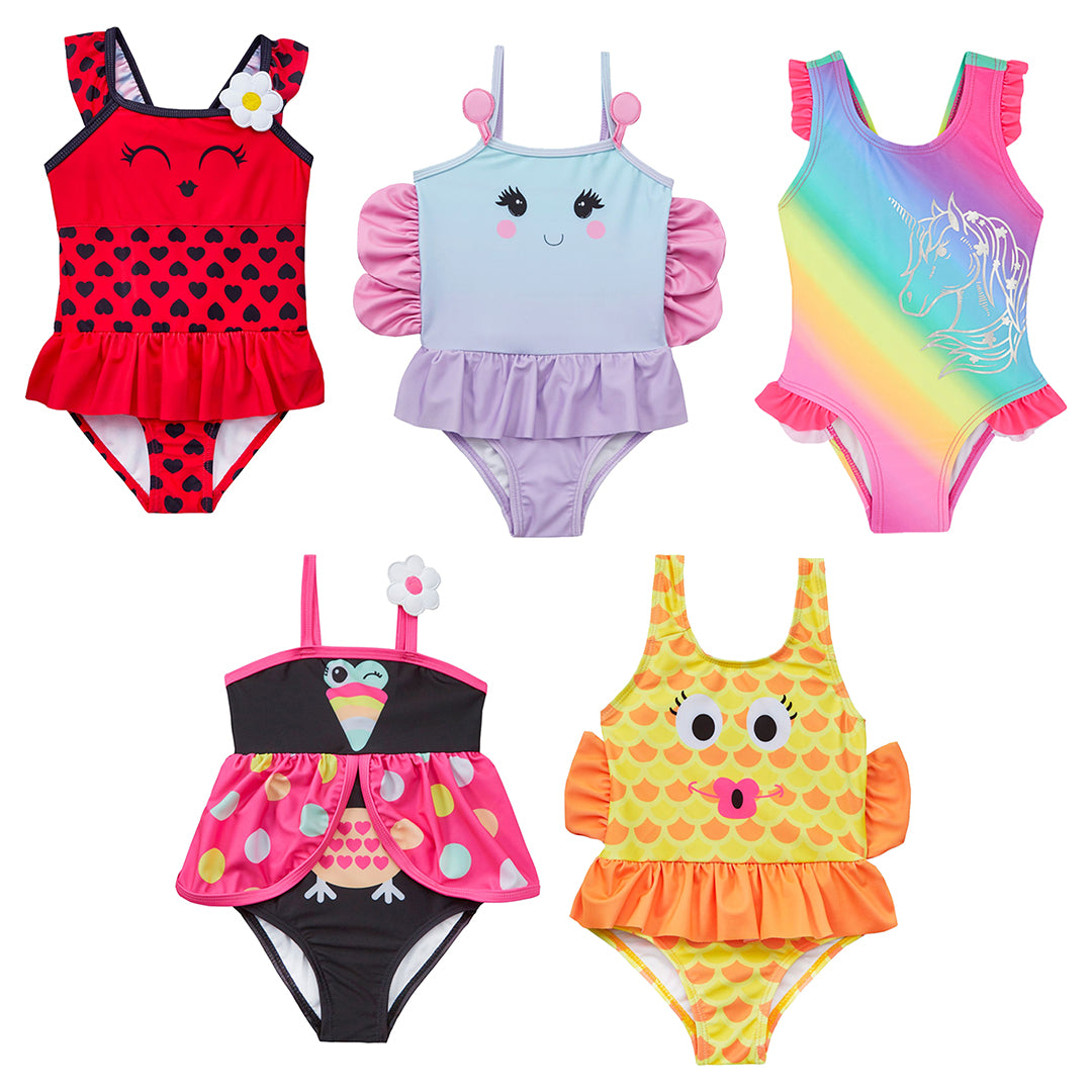 Colourful and creative girls swimsuits are a top-notch gift