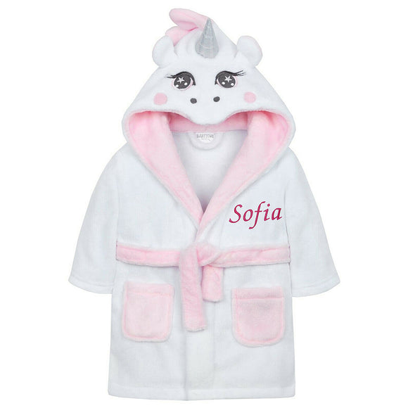 Customisable and cute dressing gowns for baby girls are well suited to gifting